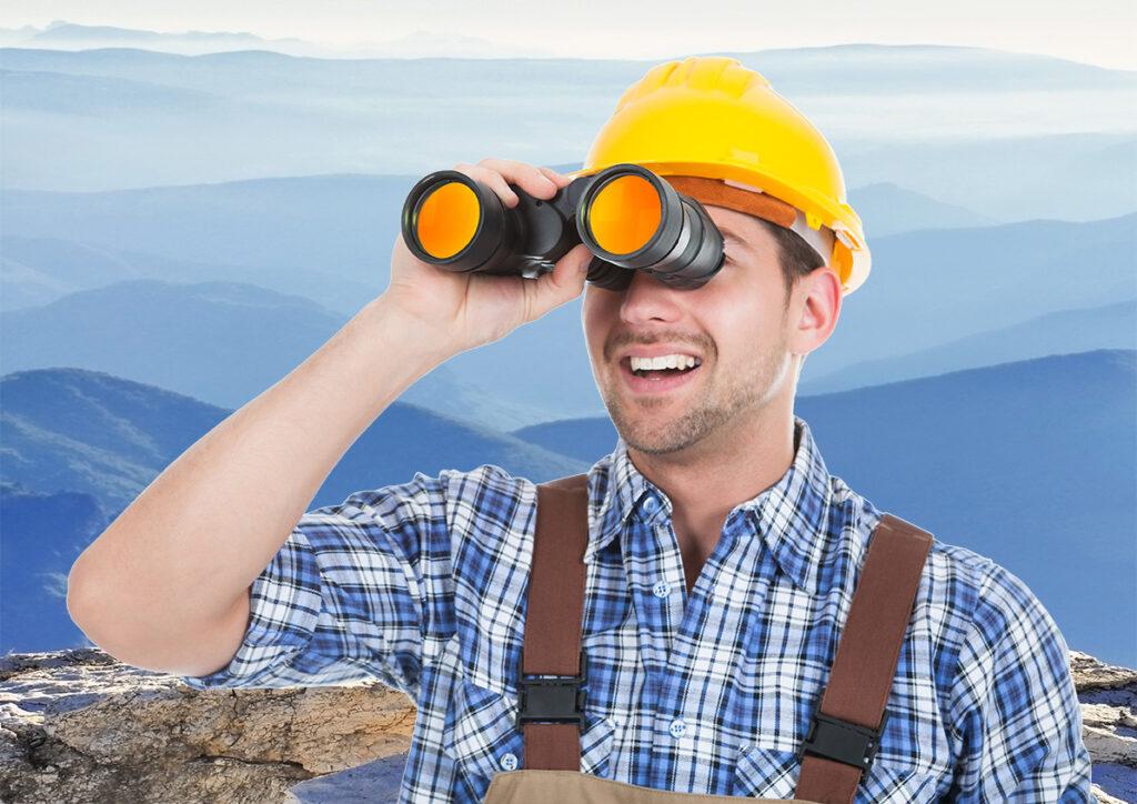Field Safe Worker Looking Ahead